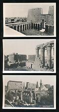 Egypt LUXOR Temples x3 c1920/30s? RP PPCs