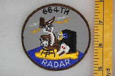 US Vietnam Or Korea 664th Radar Bugs Bunny On Twill Squadron Patch SQ409