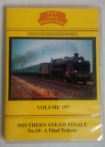 B & R 197 DVD Southern Steam Finale No.10: A Final Tribute Train Railway