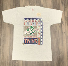 Vintage 1991 Minnesota Twins World Series Champion T-Shirt Mens L MLB Baseball