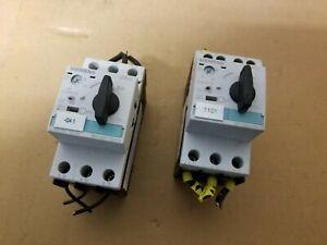 Lot of 2 Siemens 3RV1021-4DA10 Sirius Motor Controller