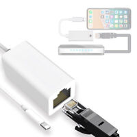 For iPhone Xs MX XR 6 7 8 Phone to RJ45 Ethernet LAN Wired Network Cable Adapter