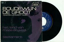 """BOUDEWIJN de GROOT Het Land van Maas en Waal (1967 HOLLAND PS EX+ VINYL 7""""/45)"""