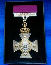 More details for new zealand cross full size medal & ribbon + presentation box, reproduction