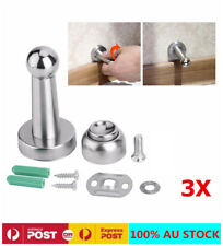 3XMagnetic Door Stop StainlessSteel Door Stopper Holder Catch Floor Home Bedroom
