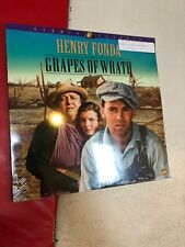 Laserdisc THE GRAPES OF WRATH  with trailer Henry Fonda New SEALED