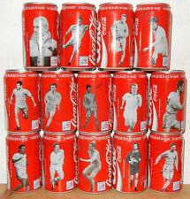 COCA COLA 14 cans SOCCER PLAYERS 1994 set from BELGIUM (33cl)