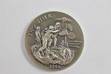 Longines Symphonette Sterling Silver Iwo Jima 1945 Medal WWII