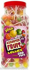 POSH 50 LOLLIPOPS  ASSORTED FRUIT BAG FILLER  RETRO SWEETS PARTY WEDDING