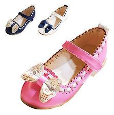 Kids Girls Party Wedding School Princess Dress Shoes Mary Jane Ballet Bow Flower