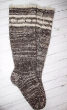 MEN's LEG WARMERS sheep wool KNEE SOCKS thick very warm XXXL