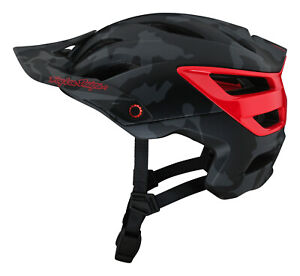 Troy Lee Designs A3 MIPS MTB Bicycle Helmet Camo - Gray / Red