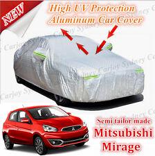 Premium Waterproof Rain UV Protection Aluminum Zip Car Cover Mitsubishi Mirage