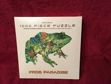 Frog Paradise 1000 piece puzzle NIB USA Butterflies Colorful Tropical Flowers