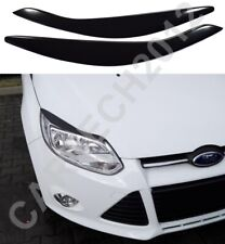 Fits Ford Focus MK3 Headlight Eyebrows ABS PLASTIC, tuning