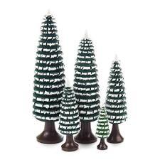 BÄUME mit Stamm 5-tlg. NEU Volkskunst Holzbaum Weihnachtsbaum Ringelbaum Holz