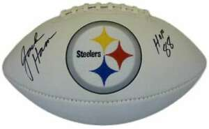 Jack Ham Autographed/Signed Pittsburgh Steelers Logo Football HOF 88 JSA 11534