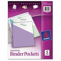 """Avery Durable 3-ring Poly Binder Pocket - Letter - 8.50"""" X 11"""" - 20 Sheet"""