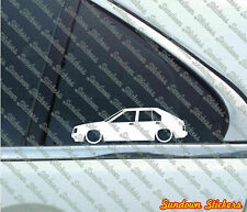 2X Low car outline stickers for Datsun Cherry / Nissan Pulsar N12, 5-DOOR L022