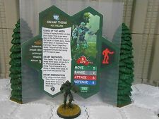 Heroscape Custom Swamp Thing Double Sided Card & Figure w/ Sleeve DC