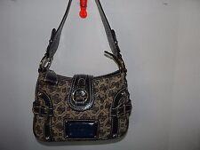Guess Signature Hobo Handbag Purse Black and Brown Color Small
