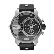 Orologio Cronografo Uomo DIesel DZ7256 Cassa Acciaio Cinturino Pelle Nero Data