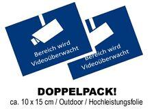 Aufkleber DIN 33450 Videoüberwachung Video - Infozeichen Warnaufkleber 105 x 148