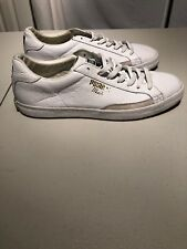 Puma Match Men's Sneakers White Leather Tennis Shoes Size 11