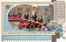 2702) RISORGIMENTO, CAMILLO BENSO DI CAVOUR AL CONGRESSO DI PARIGI NEL 1856.