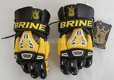 "NEW Brine King IV Black & Yellow Large 13"" Lacrosse Gloves"