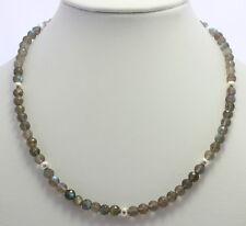 LABRADORIRA CADENA,cadena de piedras preciosas,Labradorita,Labradorita
