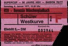 Ticket Supercup Finale 08.01.1977 Hamburger SV - Borussia Mönchengladbach