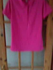 Wilson Staff Large Pink Golf Polo Shirt.