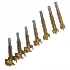 12-35mm Titanium-Coated Forstner Bit Set 7pc Hinge Hole Drilling Wood Drill Bits