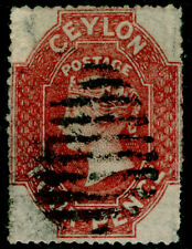 CEYLON SG30a, 4d dp rose-red, FINE USED. Cat £160.