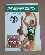 Boston Celtics pocket schedule 1975-76   NBA Tuborg