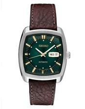 Seiko SNKP27 Automatic Recraft Series Brown Leather Green Dial Watch
