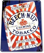 Beech-Nut Rust Chewing Tobacco Retro Vintage Wall Decor Man Cave Metal Tin Sign