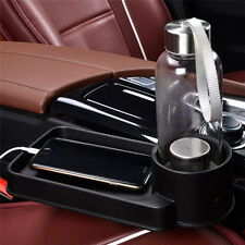 Car Seat Seam Wedge Cup Holder Black Water Food Beverage Bottle Stand Organizer