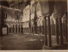 Italie Amalfi Convento dei Cappuccini Albumine Vintage albumen ca 1880
