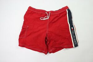 Vintage 90s Tommy Hilfiger Mens 2XL XXL Tall Spell Out Board Shorts Swim Shorts
