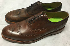 Oliver Sweeney Aldeburgh Dark Tan Leather Shoes. Size 8.5. RRP £195. BOXED.