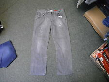"River Island Straight Jeans Waist 36"" Leg 29"" Grey Faded Mens Jeans"