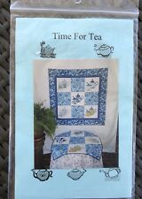 Love Quilt Patterns HIGH TIME FOR TEA Quilt Pattern NIP, Teapots, Cups, Saucers