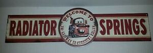 Disney CARS MATER Welcome to Radiator Springs 3D Embossed Metal Sign CARS A3