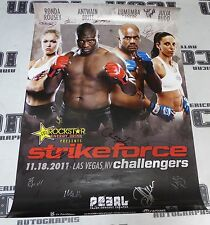 Ronda Rousey vs Julia Budd +16 Card Signed 2011 StrikeForce Poster UFC #d 41/100
