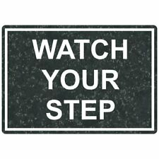 ComplianceSigns Engraved Plastic Watch Your Step Sign, 10 X 7 in. with...