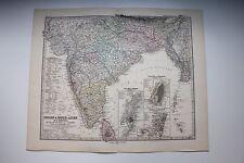 Carte de 1879, atlas Stieler,Gotha J. Perthes  Indien Inner-Asien N°63