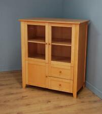 Modern Glazed Media Cabinet Storage Space & Two Drawers