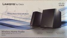 """Linksys by Cisco Wireless Home Audio Stereo Speaker Kit Model DMSPK50 """"BRAND NEW"""